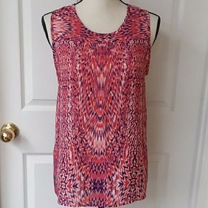Violet & Claire ladies vibrant sleeveless top med